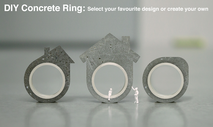 DIY Concrete Ring:  Select your favourite design or create your own